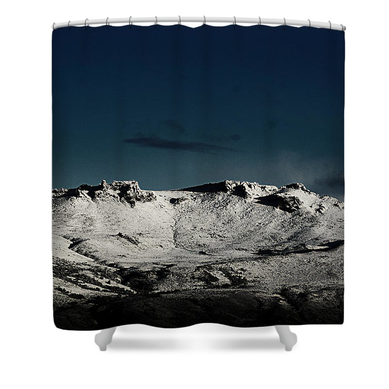 Argentina Shower Curtain featuring the photograph White And Blue by Osvaldo Hamer