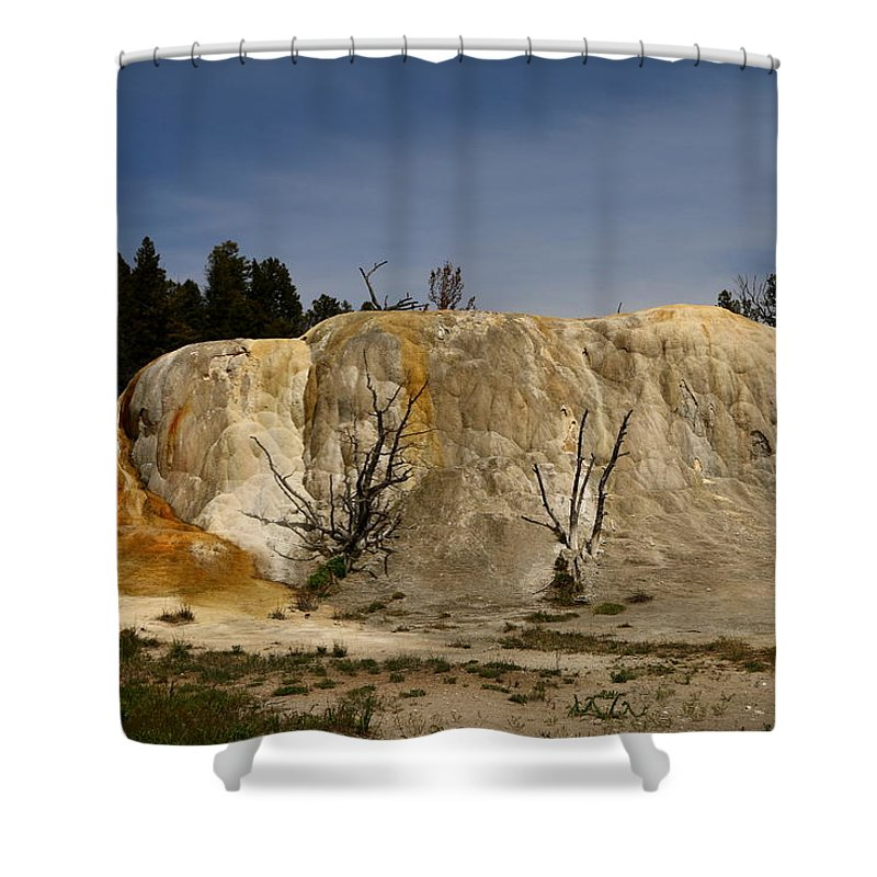 Mammoth Shower Curtain featuring the photograph White Elephant Back Terrace by Christiane Schulze Art And Photography