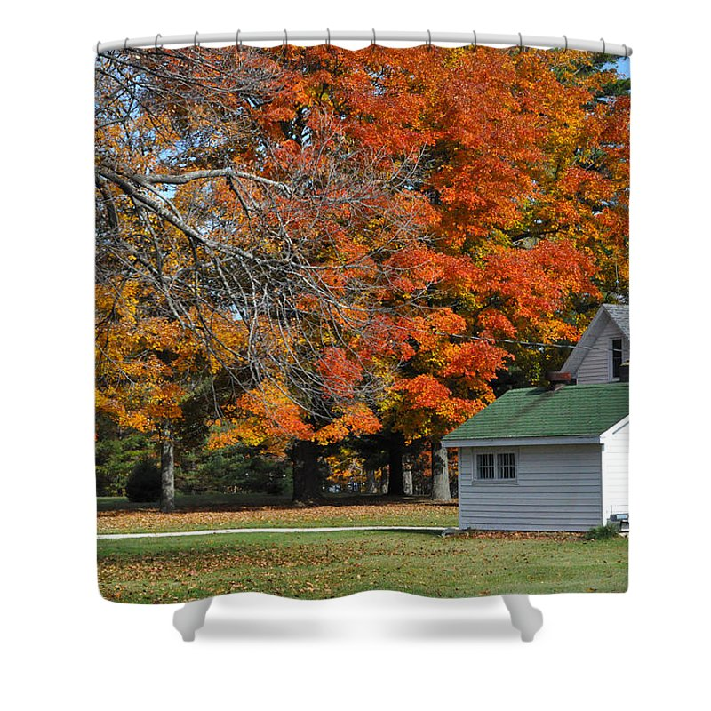 White House Shower Curtain featuring the photograph White House by Tim Nyberg