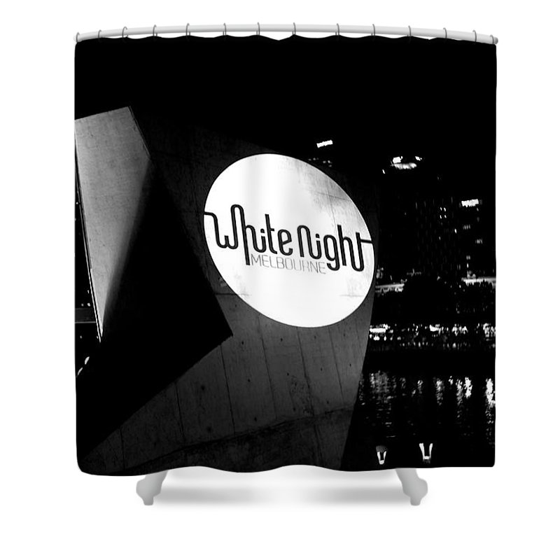 White Night Melbourne Shower Curtain featuring the photograph White Night Melbourne by Win Naing