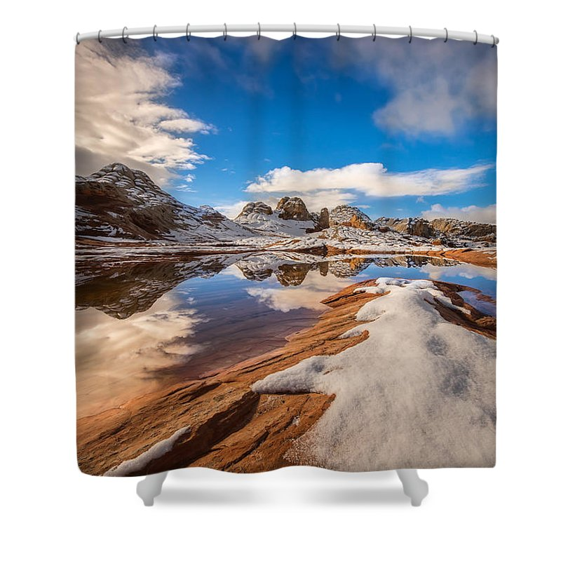 Larry Marshall Photography Shower Curtain featuring the photograph White Pocket Northern Arizona by Larry Marshall