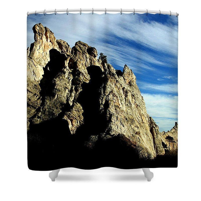 Garden Of The Gods Shower Curtain featuring the photograph White Rocks by Anthony Jones