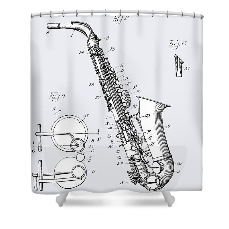 Shower Curtain featuring the photograph White Sax by Mark Stephens