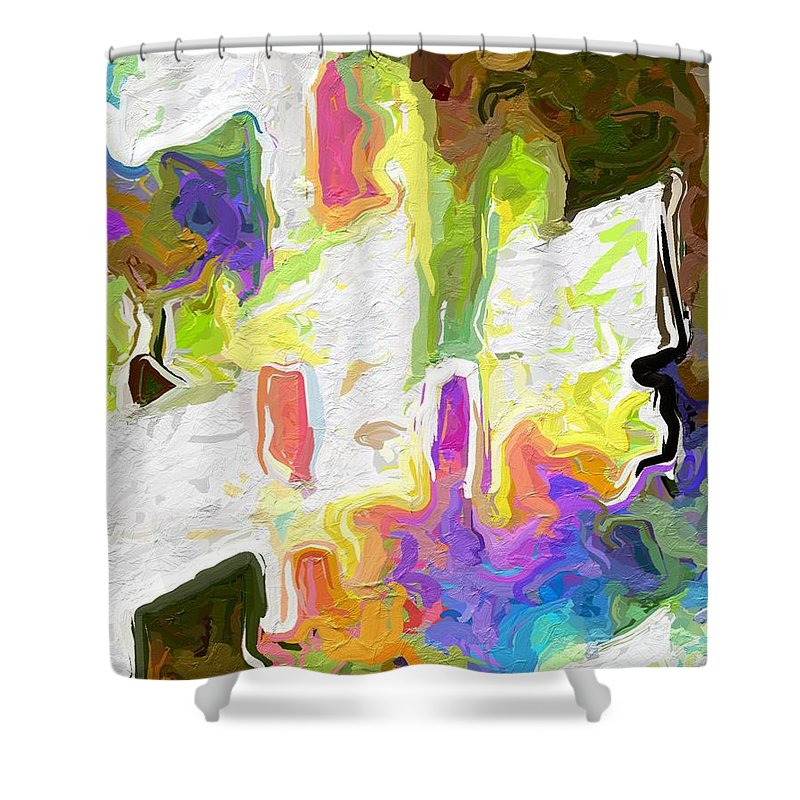 Abstract Shower Curtain featuring the photograph White Space II by Rita Koivunen
