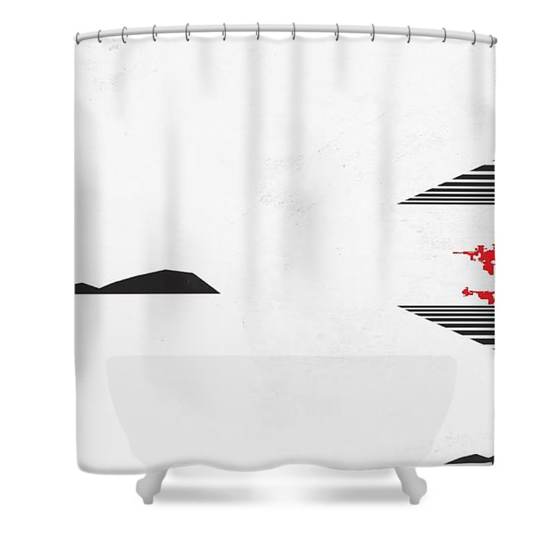 Space Shower Curtain featuring the painting White Space by Archangelus Gallery