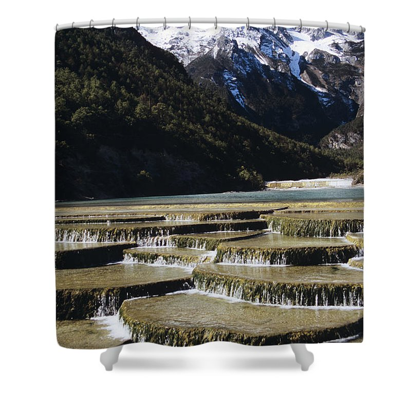 Asian Art Shower Curtain featuring the photograph White Water River - Lijiang by Gloria & Richard Maschmeyer - Printscapes