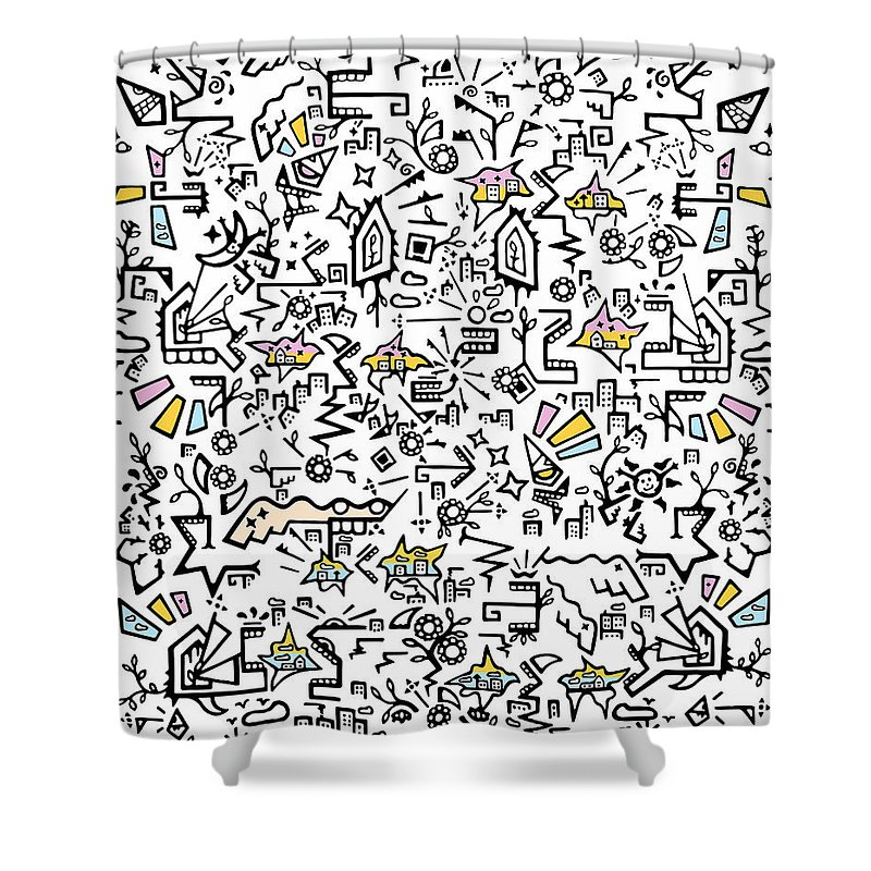 A Shower Curtain featuring the digital art Why Green Is The Softest Color by Scribbles