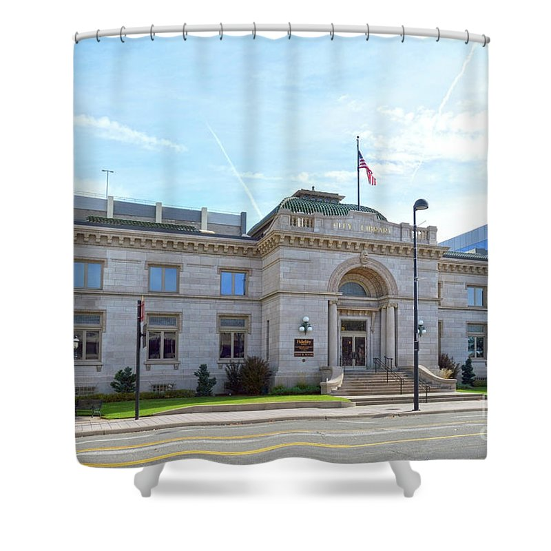 Carnegie Library Shower Curtain featuring the photograph Wichita Carnegie Library by Catherine Sherman
