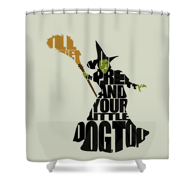 Wicked Witch Of The West Shower Curtain Featuring Digital Art