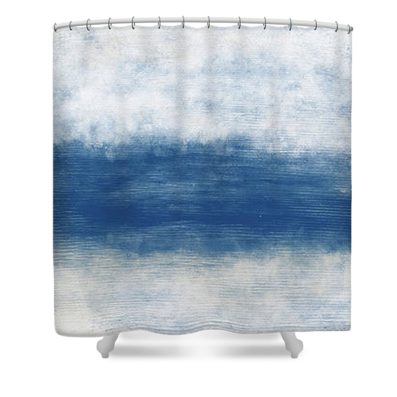 Beach Shower Curtain featuring the mixed media Wide Open Ocean- Art by Linda Woods by Linda Woods
