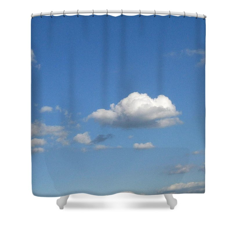 Clouds Shower Curtain featuring the photograph Wide Open by Rhonda Barrett