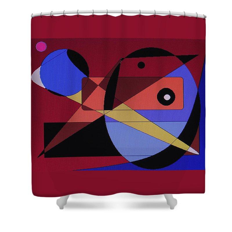 Abstract Bird Shower Curtain featuring the digital art Wild Bird by Ian MacDonald