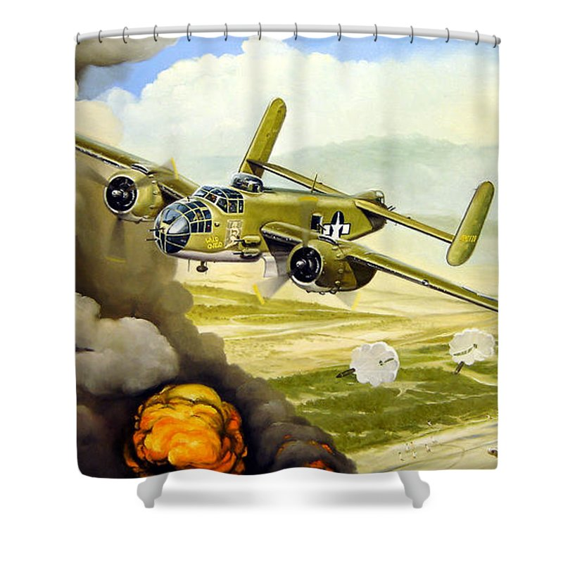 Aviation Shower Curtain featuring the painting Wild Cargo by Marc Stewart