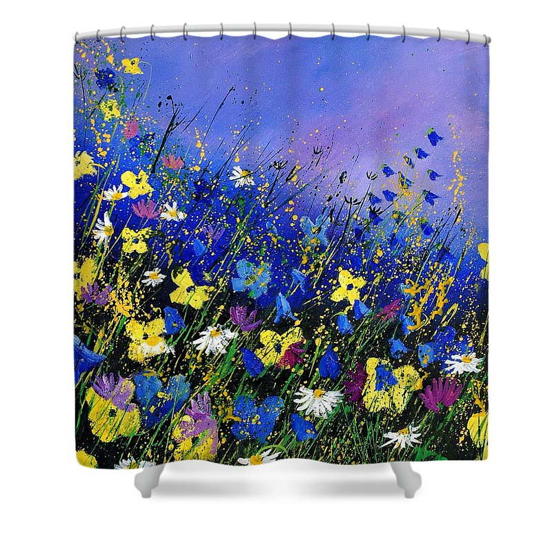 Flowers Shower Curtain featuring the painting Wild Flowers 560908 by Pol Ledent