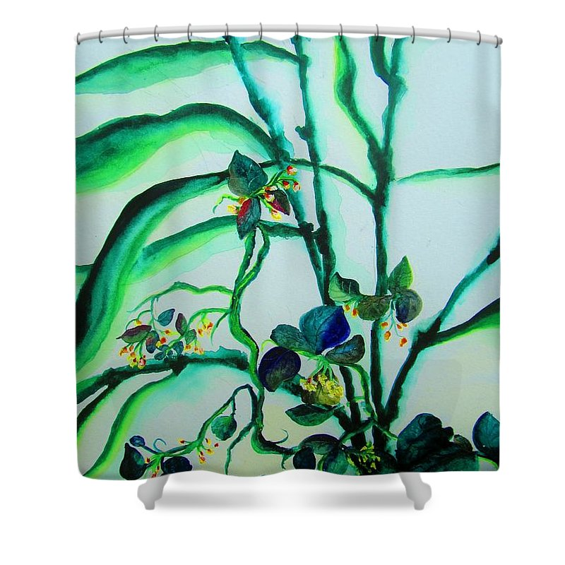 Wildflowers Shower Curtain featuring the painting Wild Nature by Lil Taylor