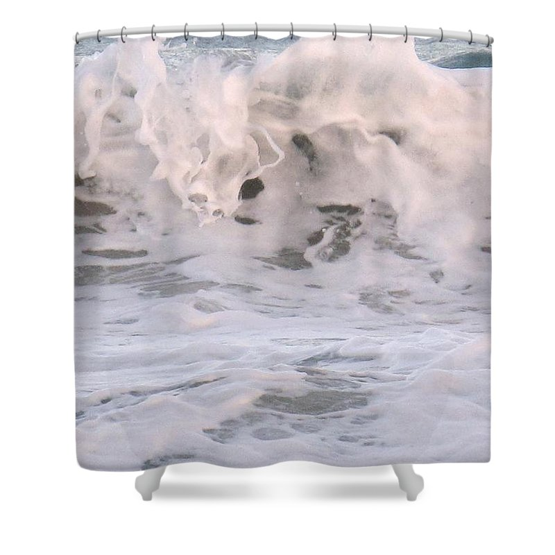Surf Shower Curtain featuring the photograph Wild Surf by Ian MacDonald