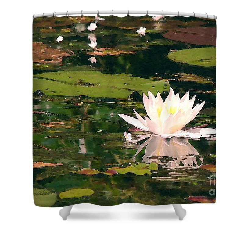 Water Lilly Shower Curtain featuring the photograph Wild Water Lilly by Patricia L Davidson