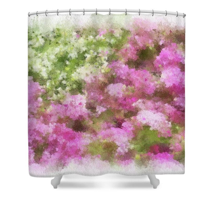 Flowers Shower Curtain featuring the painting Wildflower Garden 2 by Jamie Holbrook