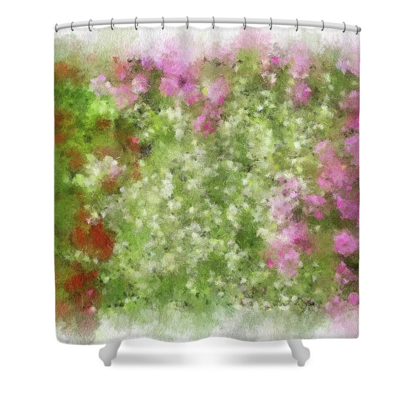 Flowers Shower Curtain featuring the painting Wildflower Garden by Jamie Holbrook