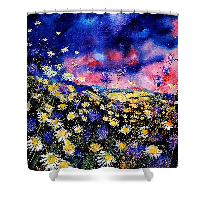 Flowers Shower Curtain featuring the painting Wildflowers 67 by Pol Ledent