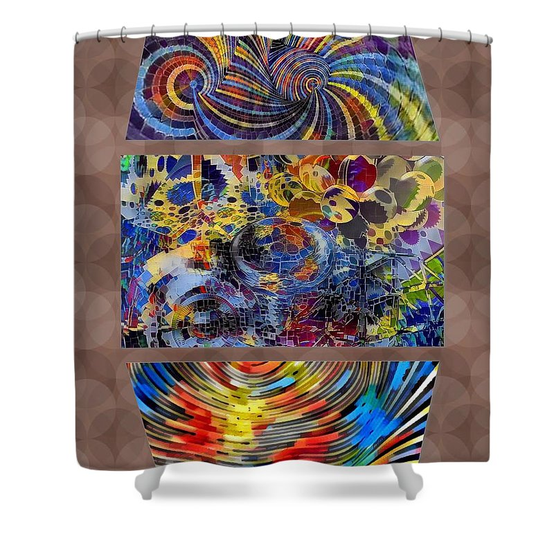 Digital Art. Abstract. Mad Vision. Riot. Explosion. Shower Curtain featuring the digital art Wildsweetandcool by Lawrence Allen