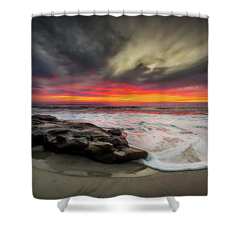 Beach Shower Curtain featuring the photograph Will Of The Wind by Peter Tellone