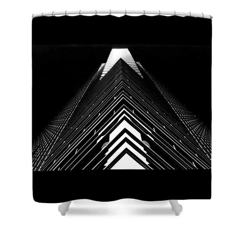 Architecture Shower Curtain featuring the photograph William Donald Schaefer Building II by Denny Motsko