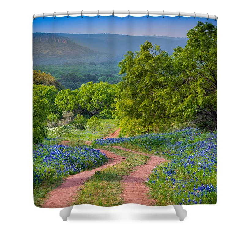 America Shower Curtain featuring the photograph Willow City Road by Inge Johnsson