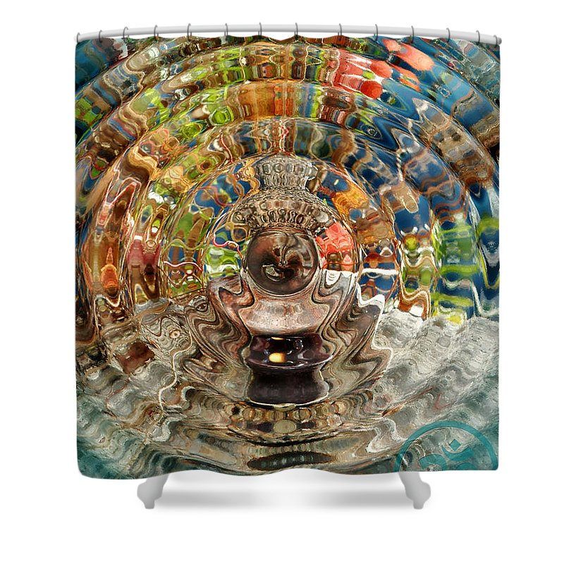 Trippy Shower Curtain featuring the photograph Zenergy by Cindy Greenstein