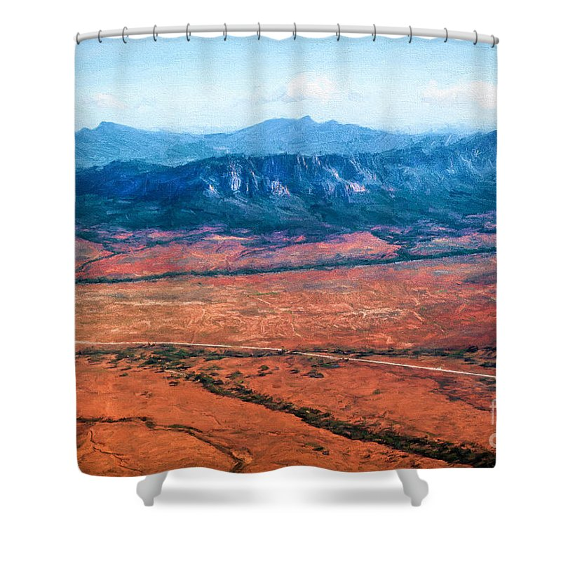Outback Shower Curtain featuring the photograph Wilpena Pound Eh by Ray Warren