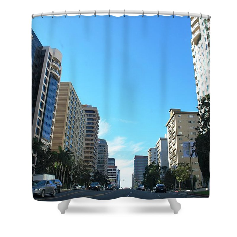 City Shower Curtain featuring the photograph Wilshire Blvd - West La by Matt Harang
