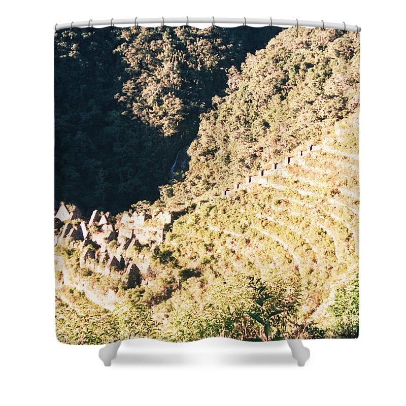 Winay Wayna Shower Curtain featuring the photograph Winay Wayna by Omar Shafey