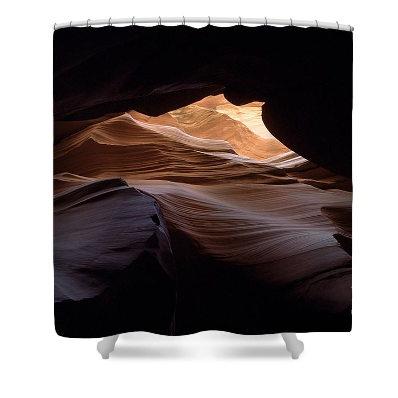 Antelope Canyon Shower Curtain featuring the photograph Wind And Water by Kathy McClure