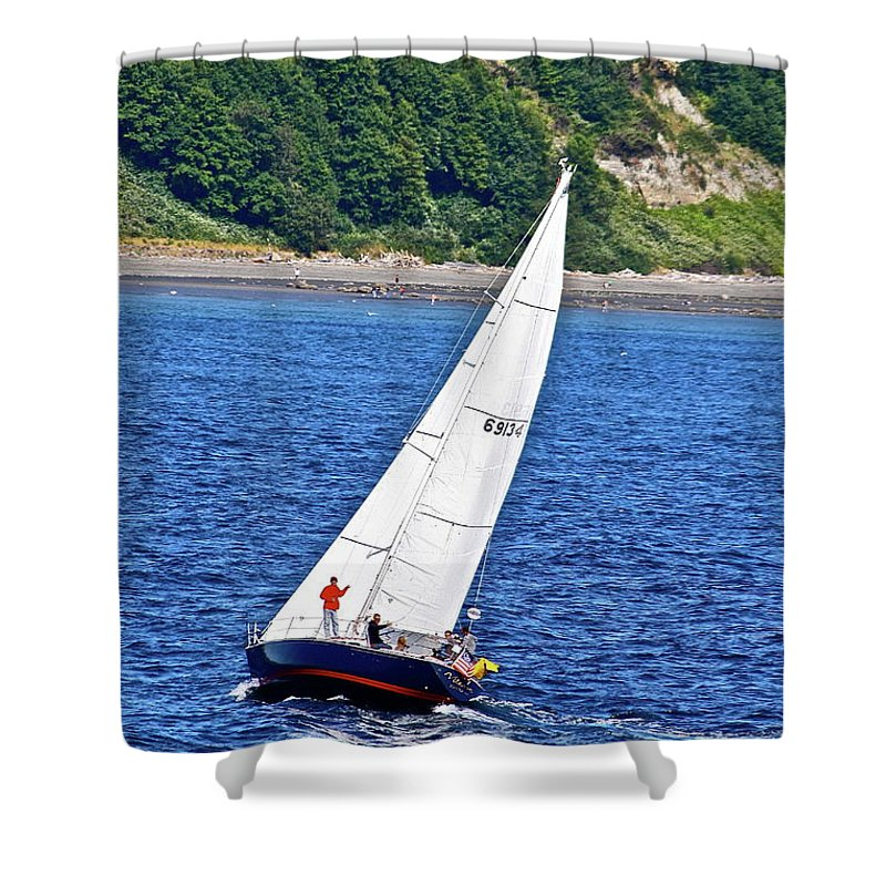 Boat Shower Curtain featuring the photograph Wind Friend by Diana Hatcher