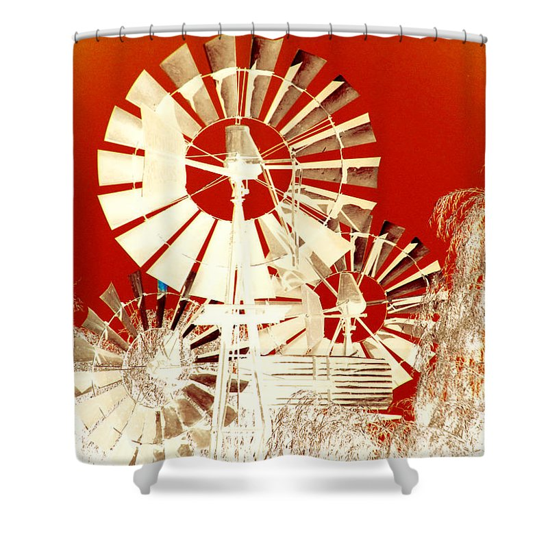 Landscapes Shower Curtain featuring the photograph Wind In The Willows by Holly Kempe