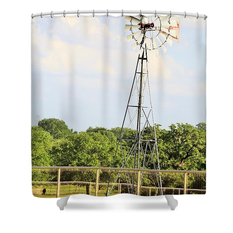 Shower Curtain featuring the photograph Wind Mill by Jeff Downs