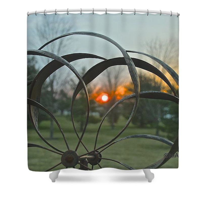 Wind Mobile Shower Curtain featuring the photograph Wind Mobile by Mark Holden