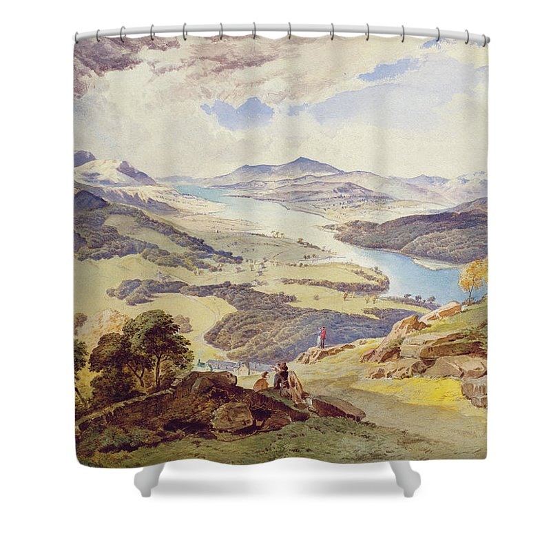 Windermere Shower Curtain featuring the painting Windermere From Ormot Head by William Turner