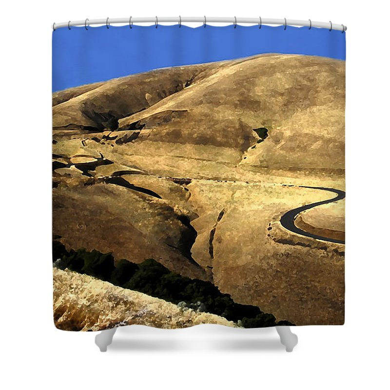 Road Shower Curtain featuring the photograph Winding Road by David Lee Thompson