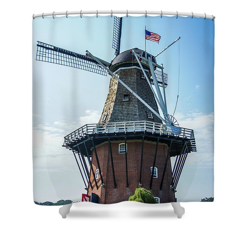 Holland Shower Curtain featuring the photograph Windmill Island, Holland Michigan by Art Spectrum