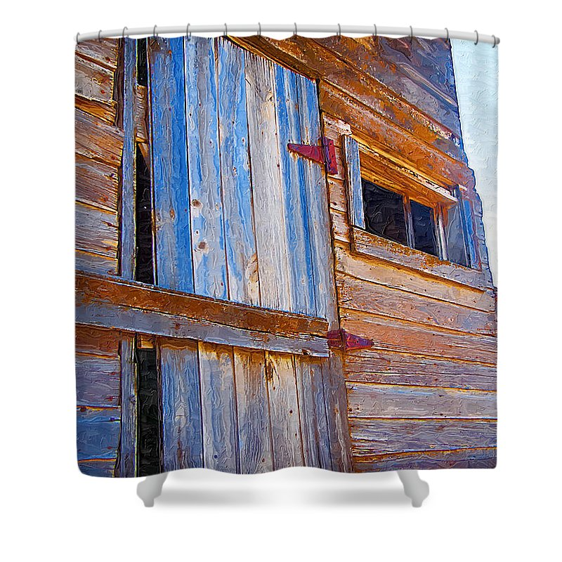 Window Shower Curtain featuring the photograph Window 3 by Susan Kinney