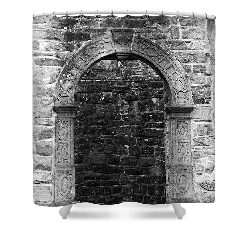 Irish Shower Curtain featuring the photograph Window At Donegal Castle Ireland by Teresa Mucha
