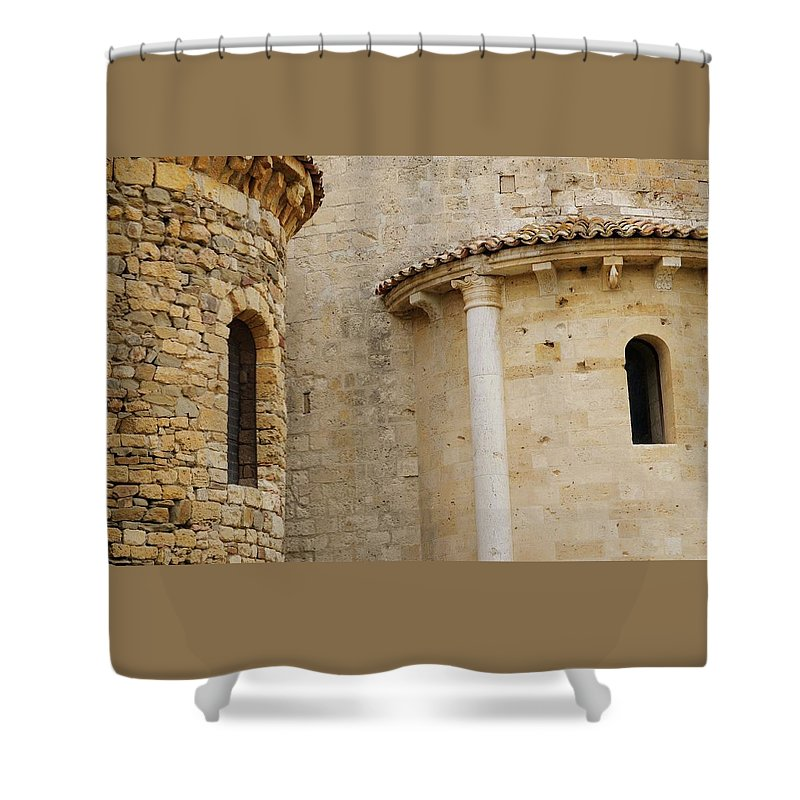 Italy Shower Curtain featuring the photograph Window Due - Italy by Jim Benest