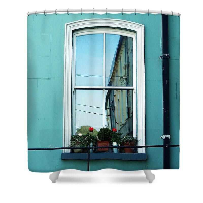 Irish Shower Curtain featuring the photograph Window In Ennistymon Ireland by Teresa Mucha