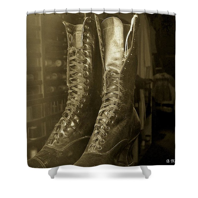 Antique Shower Curtain featuring the photograph Window Shopping by Betty Northcutt
