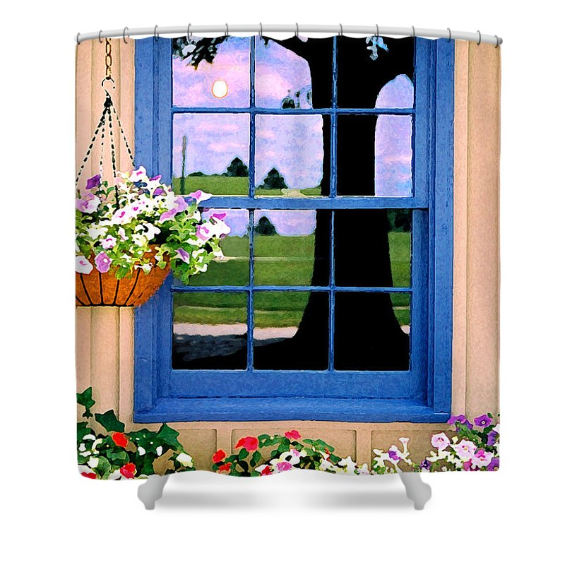 Still Life Shower Curtain featuring the photograph Window by Steve Karol