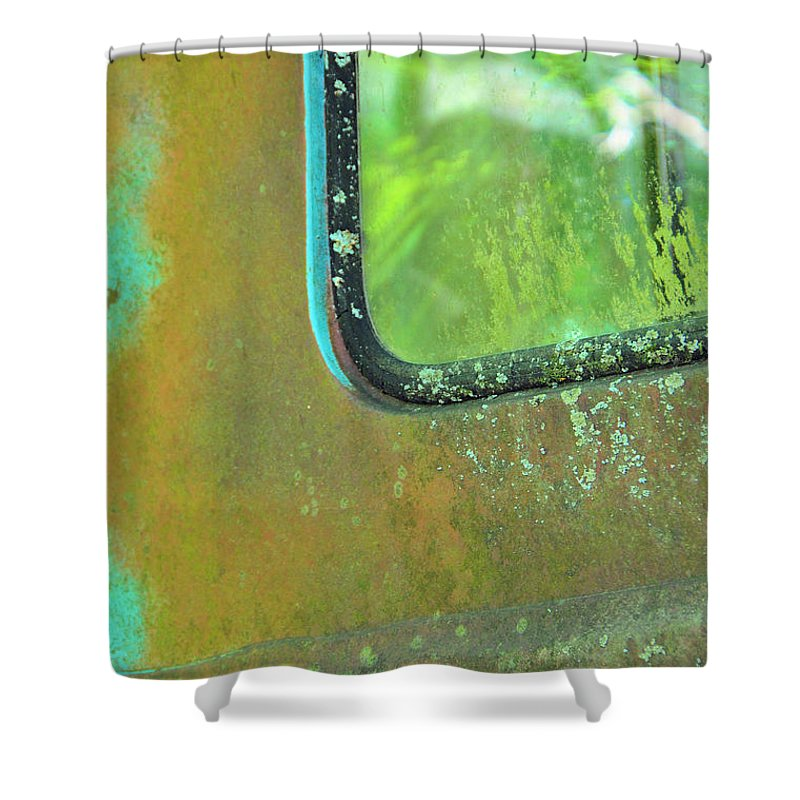 Abstracts Shower Curtain featuring the photograph Window To The Past by Jan Amiss Photography