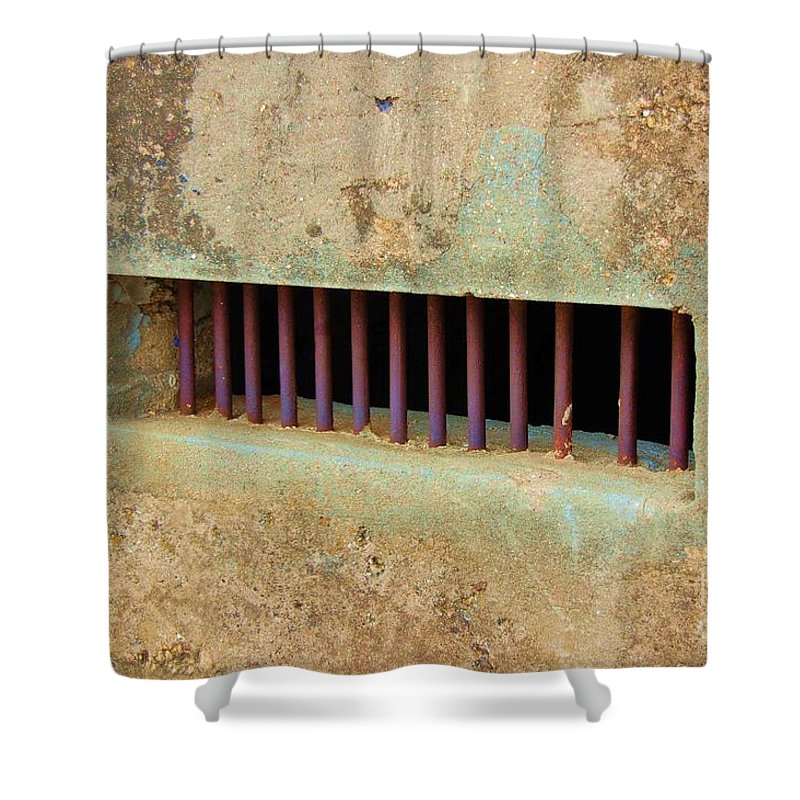 Jail Shower Curtain featuring the photograph Window To The World by Debbi Granruth