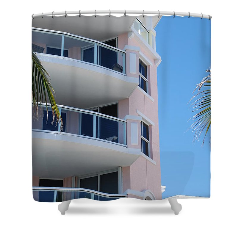 Architecture Shower Curtain featuring the photograph Windows 10 by Rob Hans