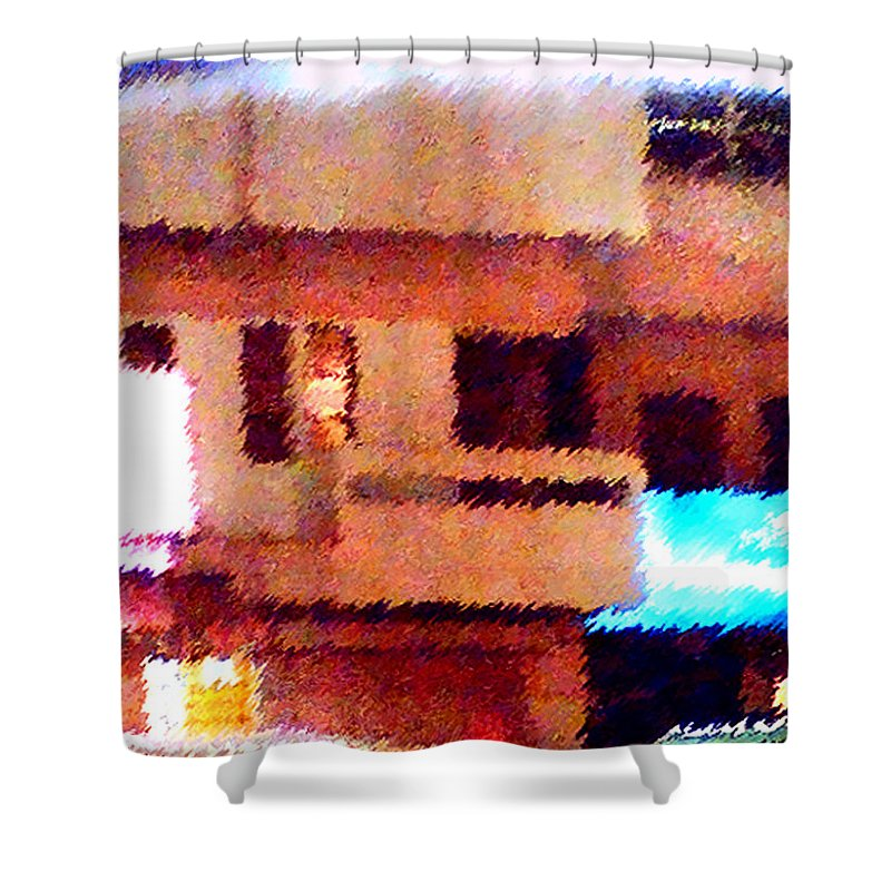Digital Art Shower Curtain featuring the painting Windows by Anil Nene